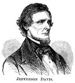 Line drawing SKETCH OF Jefferson Davis